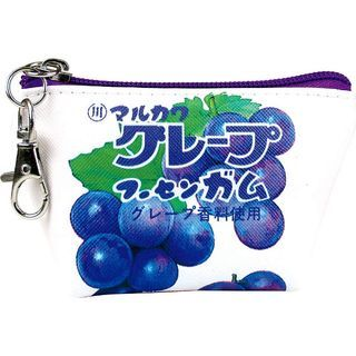 T'S Factory - Snacks Pattern Series Coin Pouch (Grape Gum Pattern)