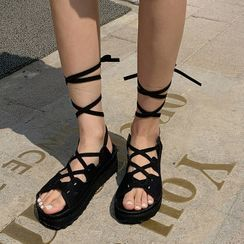 MERONGSHOP - Platform Gladiator Sandals