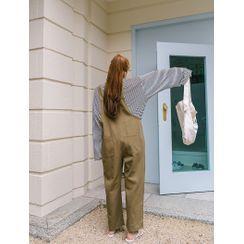 J-ANN - Patch-Pocket Baggy Jumpsuit