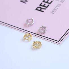 Citamen - 925 Sterling Silver Leaf Earring