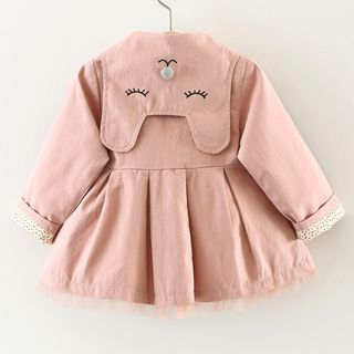 Cuckoo - Girls Embroidered Double Breasted Coat
