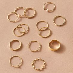 Yongge - Set of 14: Alloy Ring (assorted designs)