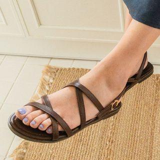 JUSTONE - Cross-Strap Slingback Sandals