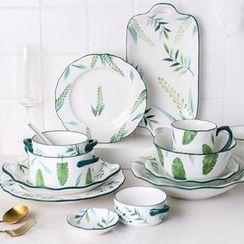 Kawa Simaya - Leaf Print Ceramic Plate / Bowl / Spoon / Cup (various designs)