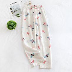 Dogini - Geometric Print Pajama Pants
