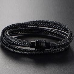 Sigil(シジル) - Faux Leather Layered Bracelet