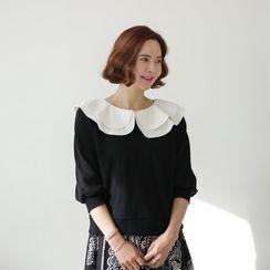 Lemite - Puff-Sleeve Capelet Sweatshirt