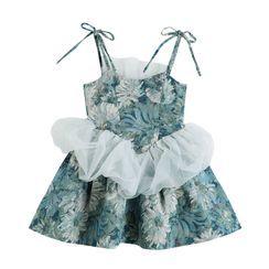 MISHI CLUB - Spaghetti Strap Floral Print Mini Dress