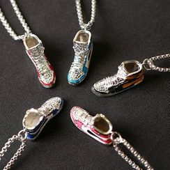 Tinseltown - Stainless Steel Miniature Sneakers Pendant Necklace