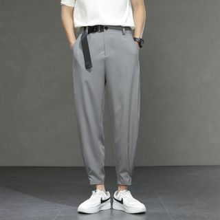 YIKES - Plain Cropped Tapered Pants