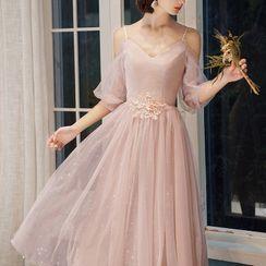 Destine - Mesh Evening Gown (Various Designs)