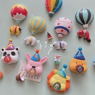 Oknana Home - 動物 / 熱氣球冰箱磁鐵