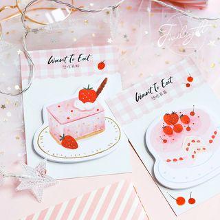 Homey House - Strawberry Dessert Sticky Note (various designs)