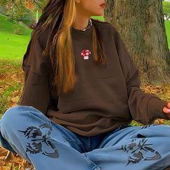 Honet - 蘑菇刺绣卫衣