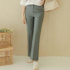 JUSTONE - Flat-Front Dress Pants
