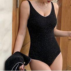 Honolulu - Set: Plain Sleeveless Swimsuit + Cover-Up Jacket