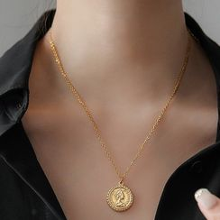 MOMENT OF LOVE - Coin Pendant Necklace