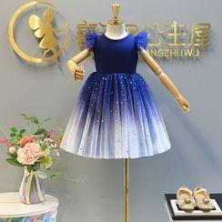 ZiG ZaG - Kids Sleeveless Glitter Mesh Dress
