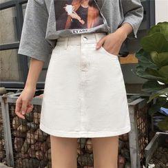 KOHKEI - 高腰A字牛仔裙