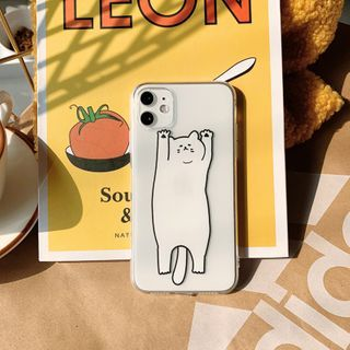 kloudkase - Cat Print Transparent Phone Case - iPhone 12 Pro Max / 12 Pro / 12 / 12 mini / 11 Pro Max / 11 Pro / 11 / SE / XS Max / XS / XR / X / SE 2 / 8 / 8 Plus / 7 / 7 Plus