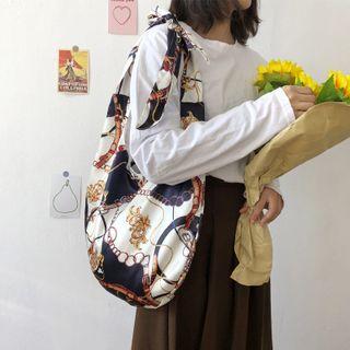 TangTangBags - Chain Print Silky Crossbody Bag