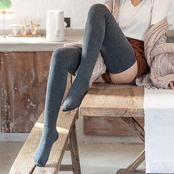 Niseko - Plain Over-The-Knee Socks