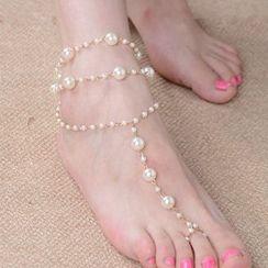 Seirios - 珠珠脚链连套趾