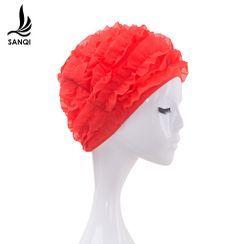 SANQI - Frill Swim Cap