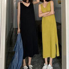 Rorah - Strappy Midi A-line Knit Dress