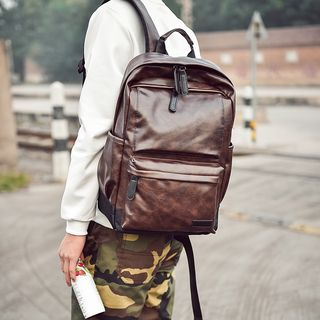 SUNMAN - Faux-Leather Backpack