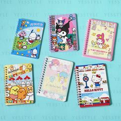 Sanrio - A6 Spiral Notebook - 19 Types