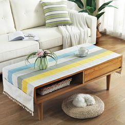 iMpressee(インプレッセ) - Tassel Striped Table Cloth
