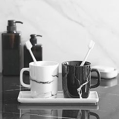 Mimike - Bathroom Tray / Set: Bathroom Tray + Toothbrush Cup + Toothbrush Holder