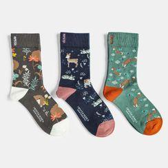 QUICKSOOX - 密鋪動物襪子 / 三對套裝