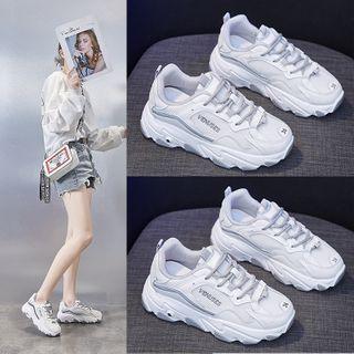 Shanhoo - 字母厚底休閒鞋