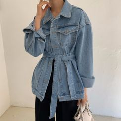 Ashlee - Tie-Waist Denim Jacket