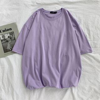 FOEV - Plain Short-Sleeve T-Shirt