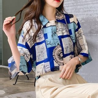 Baabi - 3/4-Sleeve Printed Shirt