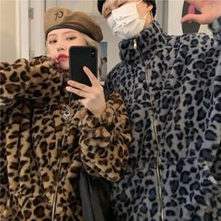 Sevilla - Couple Matching Leopard Print Zip Jacket