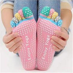 Huasha - Full Toe Yoga Grip Socks
