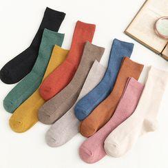 Mimiyu - Set Of 5 Pairs: Plain Socks