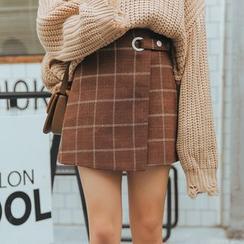 TREEZIN - Plaid Mini Skirt