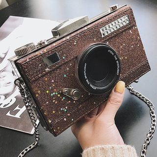 OUCHA - Faux Leather Camera Crossbody Bag
