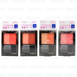 Kose - Fasio Waterproof Cheek Color - 4 Types