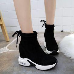 Vindler - 厚底內增高短靴