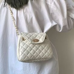 SUMME - Quilted Faux Leather Crossbody Bag