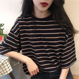 Windflower - Striped Boxy T-Shirt