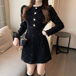 Yupina - Long-Sleeve Mini A-Line Dress