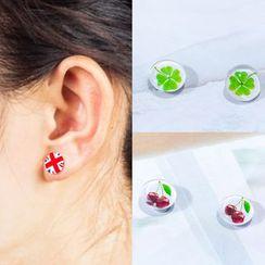 Cheermo - Print Magnetic Earrings