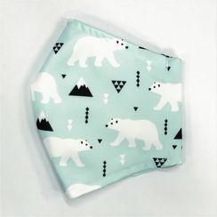 Miumi - Handmade Water-Repellent Fabric Mask Cover (Polar Bear Print)(Adult)